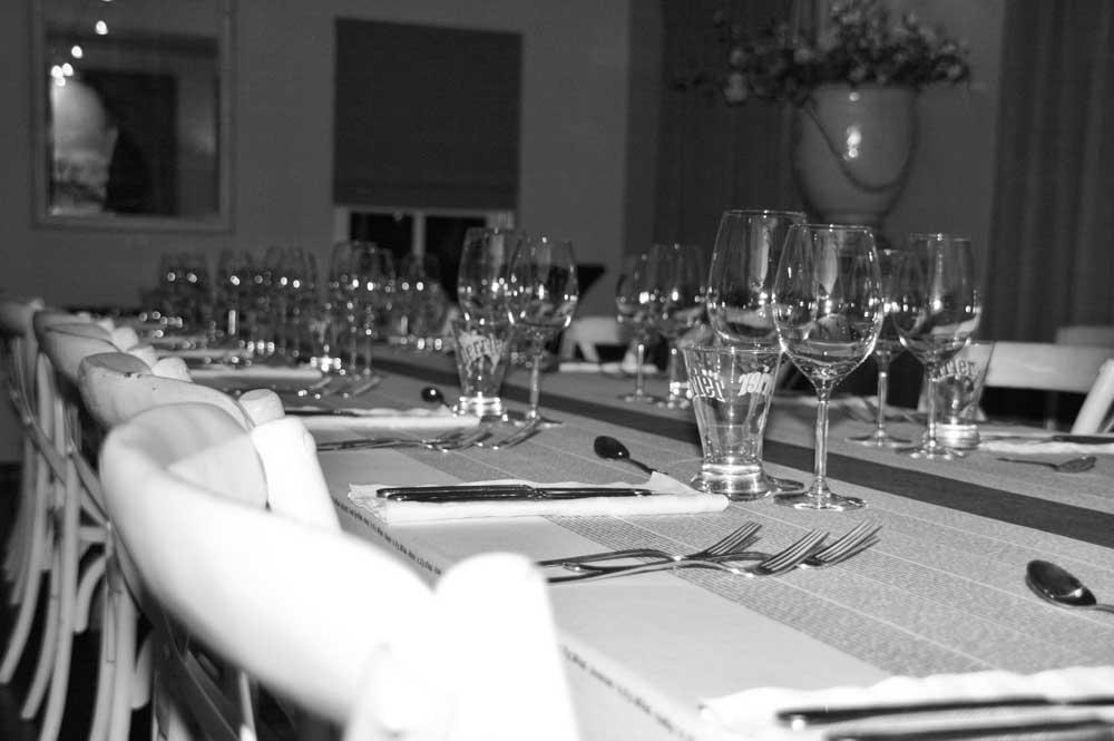 Gedekte tafel Kookhuis Rosmalen